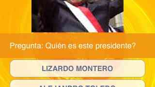 Presidentes Peruanos en el iPhone